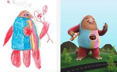 De monsters uit kindertekeningen worden werkelijkheid met hulp van kunstenaars | The Creators Project