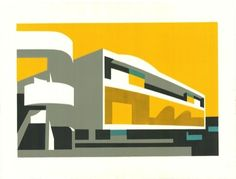 Paul Catherall linocuts exhibition at Paul McPherson Gallery, London - 'Festival II', 2012 Wallpaper Magazine, Magazine Art, Magazine Design, Brainstorm, Fashion Wallpaper, Wallpaper Art, London Art, Urban Landscape, Making Ideas
