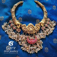 Check out this pretty antique style pure silver gold plated guttapusalu kanti haram necklace by the brand garv silver jewellery. Peacock Jewelry, Indian Jewelry Earrings, Temple Jewellery, Silver Necklaces, Silver Earrings, Silver Jewelry, Silver Jhumkas, Latest Jewellery, Necklace Designs