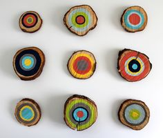 DIY Painted Tree Rings