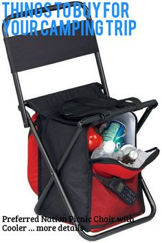 (This is an affiliate pin) Preferred Nation Picnic Chair with Cooler
