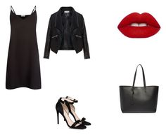 Untitled #5 by jazzpearl on Polyvore featuring polyvore fashion style Sandro Zizzi STELLA McCARTNEY Yves Saint Laurent Lime Crime clothing