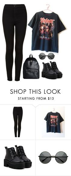 """#274"" by american-honey ❤ liked on Polyvore featuring Topshop and Eastpak"