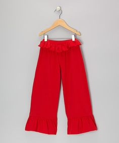 Take a look at this Red Bella Pants - Infant, Toddler & Girls by Mustard Pie on #zulily today!