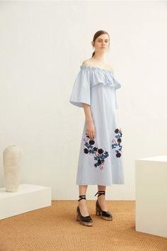 Suno Off-Shoulder Belted Dress