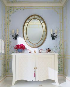 A Lady's Powder Room - A Flair for Living