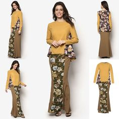 Fesyen Baju Kurung Moden Terkini 2016 2017 Design By Zolace Two Become Fun Yellow