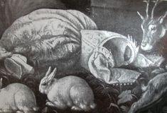 An image that shows the stiffness of the Italian dress without the use of stays (but with the use of rabbits).