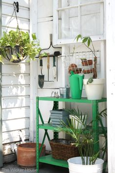 Creating a potting station featured on Ella Claire Inspired.