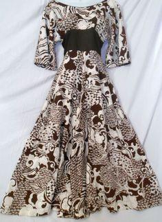Vtg 70s Alfred Shaheen Graphic Psychedelic Artsy Dress Hawaiian | eBay