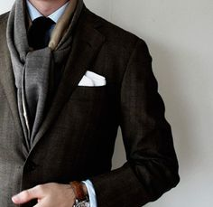 dapper - love this & his brown croc leather watch band :)