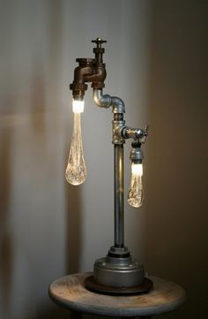 lamp made from pipes! Crazy cool!