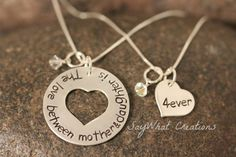 Mother and Daughter Necklace Set The love by SayWhatCreations, $68.50
