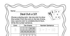 The Importance of 10 - Math Coach's Corner Math Addition, Addition And Subtraction, Math Fact Fluency, Math Coach, Go Math, Homeschool Math, First Grade Math, Math Facts, Kindergarten Math