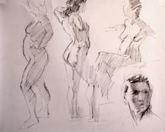 Studio Notes: Short Pose Gesture Drawing - Simple Light and Shadow