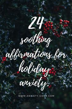 When in doubt this holiday season, repeat positive affirmations for holiday anxiety to alleviate anxiety symptoms, seasonal depression and stress. Social Anxiety Treatment, Social Anxiety Symptoms, Anxiety Facts, Mantras For Anxiety, Anxiety Coping Skills, Anxiety Tips, Anxiety Help, Stress Quotes
