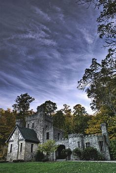 Squire's Castle–an old castle in Willoughby Hills, now part of the Cleveland Metroparks.