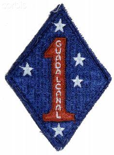 World War II, United States,1st Marine Division shoulder patch