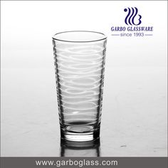 Clear and transparent machine pressed glass tumbler water drinking tumbler