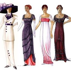 Designs for the costumes for the movie titanic. Would love to be a costume designer especially for a film like this!!