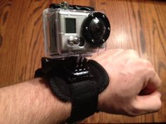 Picture of 3 homemade GoPro Mounts - Wrist strap, extension pole and dog toy