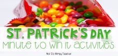 Diary of a Not So Wimpy Teacher: St. Patrick's Day Minute To Win It Activities for ...