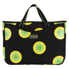 Hadaki by Kalencom Neoprene 11.1 Netbook Sleeve/Tote - O'Bubbles Yellow - HDK811-OBUBBLES-YELLOW
