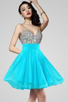 AH021 Short V-Neck Chiffon Backless Homecoming Dresses Prom Sexy Bridesmaid Dress ,Cheap Prom Dress
