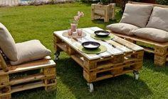 Salon de jardin en palettes... ...