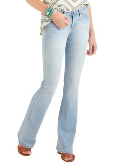 STELLA McCARTNEY, Flared, Bluebell Flared Jeans ..LOVE the light ...
