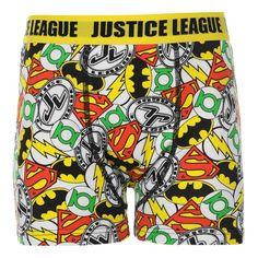 Boys Official Justice League Superhero Printed Boxers