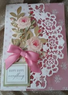 love this design, I can use for many occasions Birthday Cards For Women, Handmade Birthday Cards, Greeting Cards Handmade, Spellbinders Cards, Anna Griffin Cards, Cricut Cards, Embossed Cards, Mothers Day Cards, Pretty Cards