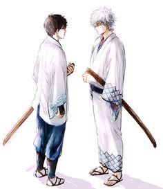 Gin-chan & Shinpachi after the time skip Gintama Wallpaper, Silver Samurai, Time Skip, Okikagu, Anime Comics, Me Me Me Anime, Character Concept, Manga Anime, Samurai Art
