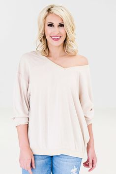 Make Yourself Comfortable Top - Beige - Anjouil's Boutique #shopanjouils