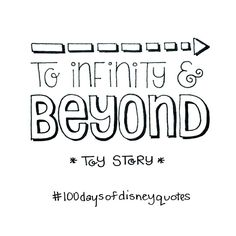 Toy Story hand lettered type   Disney Quotes   © Shannon McNab