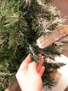 Spruce Up a Boring Christmas Tree with This Cheap, One-Ingredient Flocking (AKA Fake Snow) « Christmas Ideas (fake snow decorations) Frosted Christmas Tree, Christmas Tree With Snow, Christmas Tree Branches, How To Make Christmas Tree, Xmas Tree, White Christmas, Christmas Holidays, Christmas Wreaths, Christmas Crafts