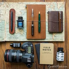 Beautiful travel layout from Goulet Pens. Check them out on Pinterest!!