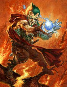 Gnome Sorcerer - Pathfinder PFRPG DND D&D d20 fantasy