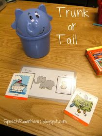 Trunk or tail...describes where the target sound/blend is (inital or final position). You can play it with the articulation version or language version. Just print and then add your artic or language cards. The instruction are included in free download.
