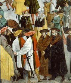Wappenrock (heraldic gown) in Augsburg colors, Augsburg Monatsbilder, November.