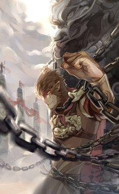 Đại Thánh! Rey Mono, Comic Collage, King Tattoos, Monkey King, Ninja, Samurai, Predator, Warriors, Mythological Creatures