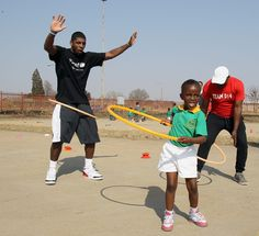 Kyrie in South Africa. #NBACares