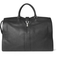 this Yves Saint Laurent Full-Grain Leather Holdall Bag Leather Overnight Bag, Overnight Bags, Grey Fashion, Mens Fashion, Ysl Bag, Briefcase For Men, Mr Porter, My Bags, Yves Saint Laurent