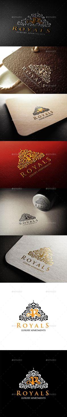 Royals Luxury Apartments Logo Template #design Download: http://graphicriver.net/item/royals-luxury-apartments-logo/11311481?ref=ksioks