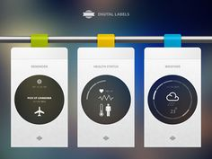 Digital Labels - Designer: Cosmin Capitanu | #ui