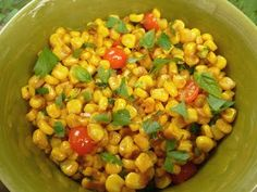 Stir Fried Corn w/ Chili, Ginger, Garlic, & Parsley...