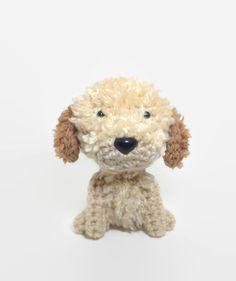 Stuffed Dog Labradoodle Goldendoodle Amigurumi Dog by Inugurumi
