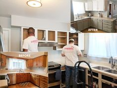 Kitchen Cabinet Makeover In Charlotte, NC By Cardinal Pro Painters  #CabinetPainting #PaintingContractor #