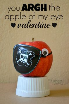 Mommy Testers, Pirate valentine for kids, Healthy Valentine Treats, Pirate…