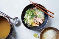 Find the recipe for Quick Pork Pho and other chile recipes at Epicurious.com